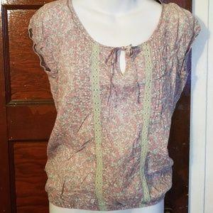 100% cotton floral blouse
